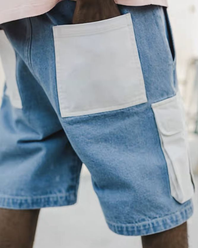 ホワイトポケットデニムショートパンツの画像6